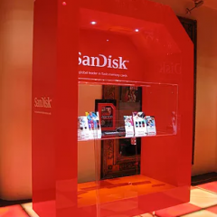 "Image of a specialised retail display ""ScanDisk"" by Image Plastics"