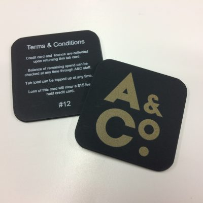Image of custom-made coasters