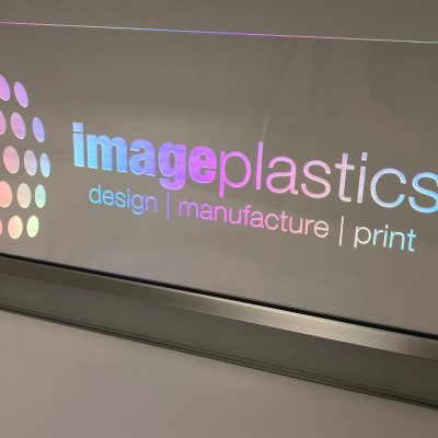 "Image of a lit display sign ""Image Plastics"" made by Image Plastics"