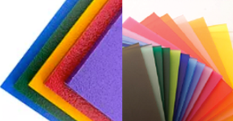 Image of coloured acrylic sheets
